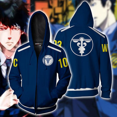 Psycho Pass zipper sports jacket. - Adilsons