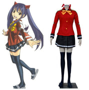 Red stylish and high-quality suit Wendy Marvell top, skirt, tie. - Adilsons