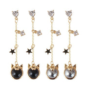 Sailor Moon Anime accessories Luna stud earrings. - Adilsons