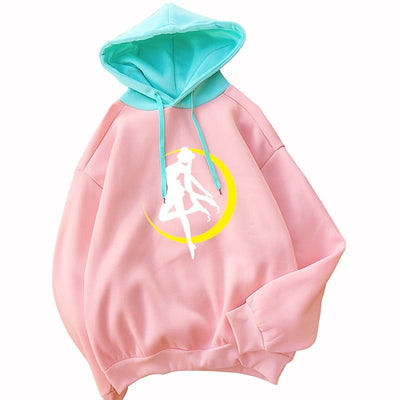 Sailor Moon casual fleece long sleeve hooded. - Adilsons