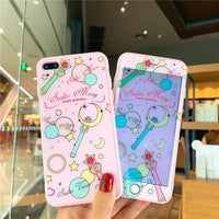 Sailor Moon Phone Case+Tempered Glass Screen Protector For iPhone. - Adilsons