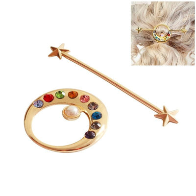 Sailor Moon star moon hairpins. - Adilsons