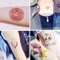 Sailor Moon tattoo sticker 50pcs. - Adilsons