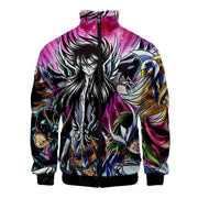 Saint Seiya 3D print jacket with zipper. - Adilsons
