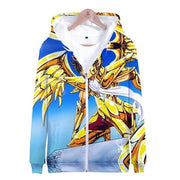 Saint Seiya anime hoodies with zipper. - Adilsons