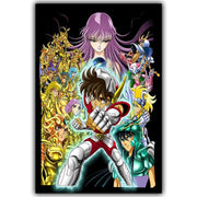 Saint Seiya classic home decor silk poster. - Adilsons