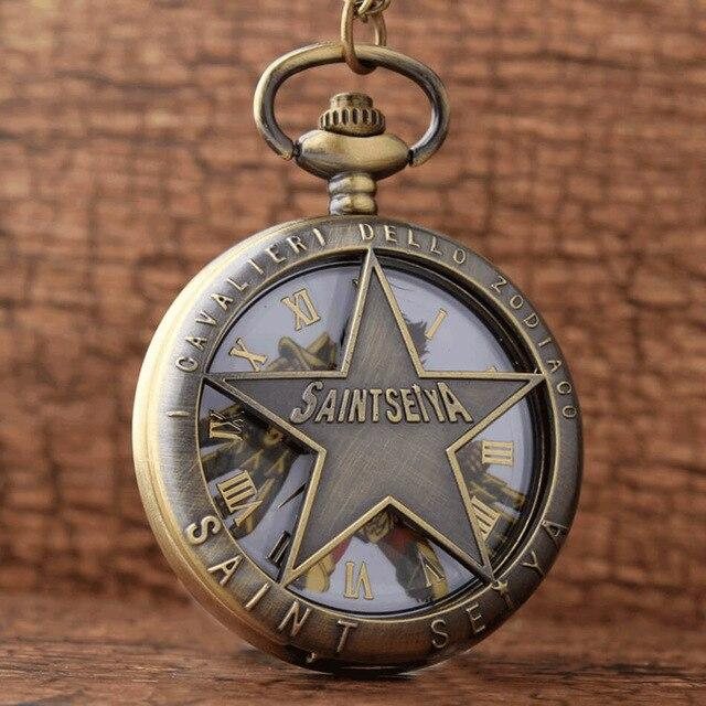 Saint Seiya retro quartz pocket watches. - Adilsons