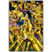 Saint Seiya silk poster wall decor. - Adilsons