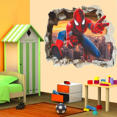 Spiderman 3d effect wall stickers. - Adilsons