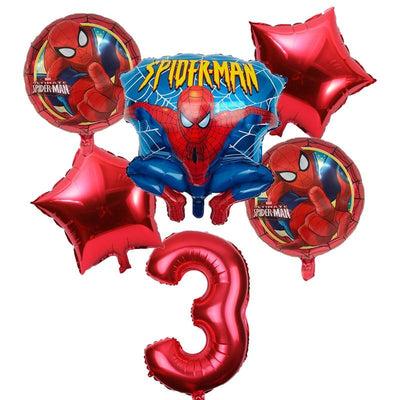 Spiderman inflatable helium balloons 6pcs/lot. - Adilsons