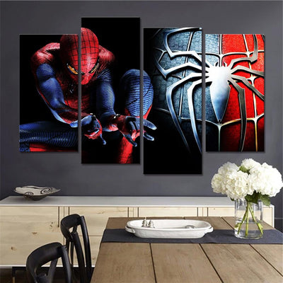 Spiderman wall decor pictures 4 piece. - Adilsons