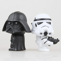 Star Wars Master Yoda figurine - Stormtrooper and Darth Vader chibi - Adilsons