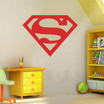 Superman 3D logo wall sticker. - Adilsons