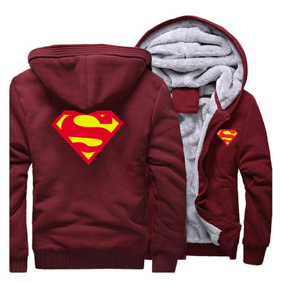 Superman fleece warm jacket. - Adilsons