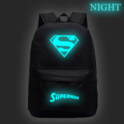 Superman luminous backpack. - Adilsons