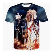 Sword Art Online fashionable 3D full print T-Shirt. - Adilsons