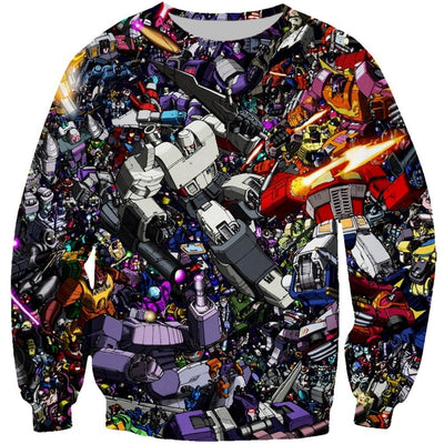 Transformers 3d printed hoodies/sweatshirt. - Adilsons