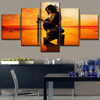 Wonder Woman decorative paintings 5 piece. - Adilsons