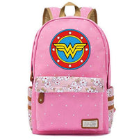 Wonder Woman flower point backpack. - Adilsons
