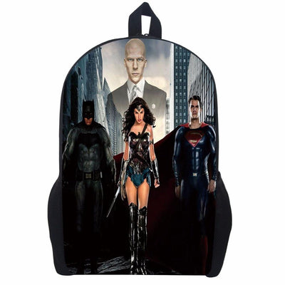 Wonder Woman printing backpack. - Adilsons