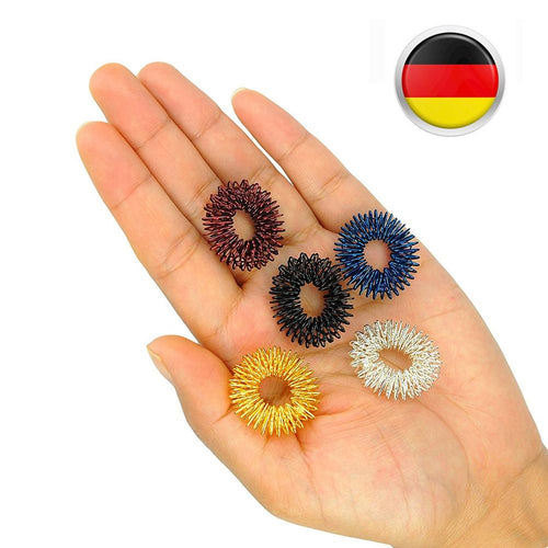 5pcs Acupressure Massage Rings (Gold/Silver/Black/Blue/Red)