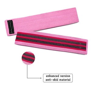 Perfect Peach Athletics Hip Band - Non Slip Fabric Resistance Bands for Women