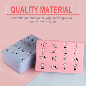 Eva Yoga Brick Anti-skid Stretch Stretching Yoga Brick Yoga Shaping Aids Workout Stretching Aid Body Shaping Health Training