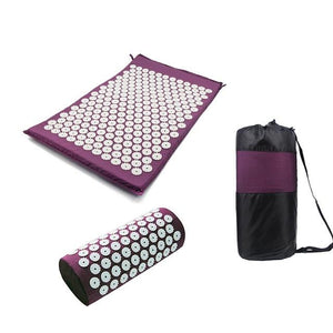 Yoga Spike Acupressure Mat Pillow Set