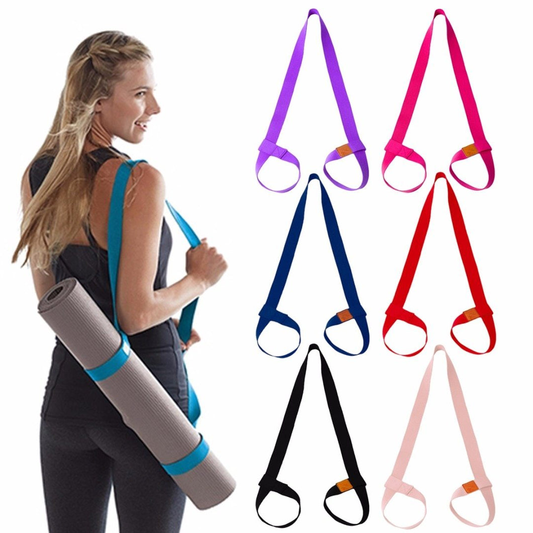Yoga Mat Strap, Adjustable Mat Carrier Sling & Stretching Strap with Thick, Durable and Comfy Texture