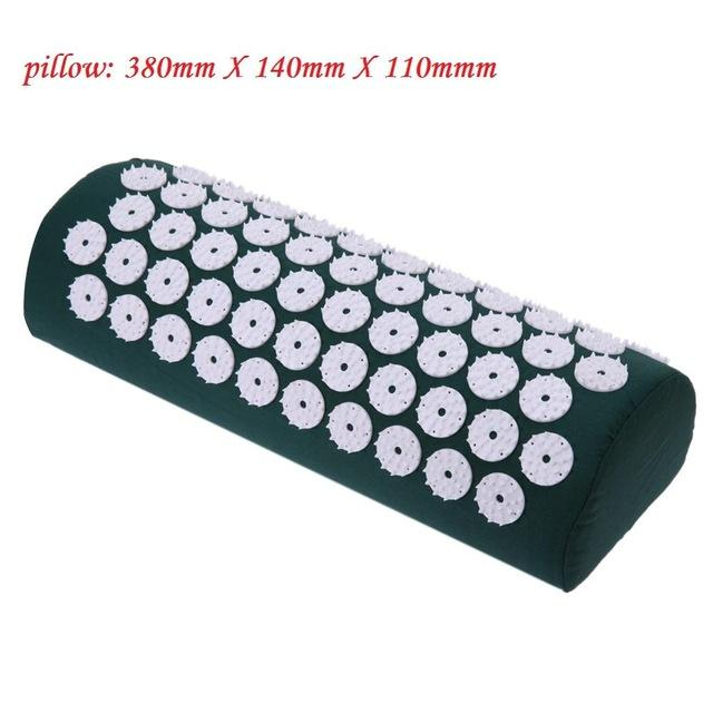 Massager Cushion with Yoga Mat Acupressure Relieve Stress Back Body Pain