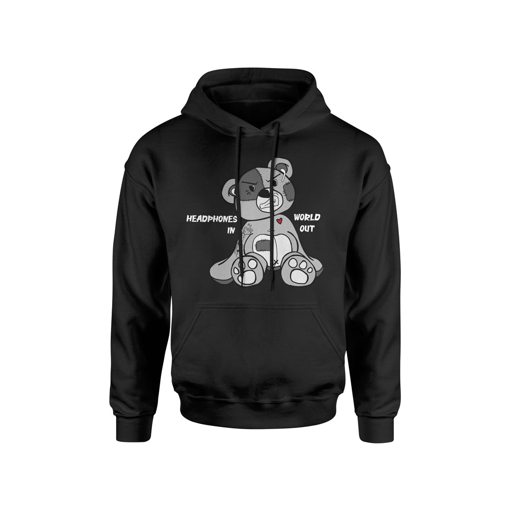 HEADPHONES IN WORLD OUT EARPOD HOODIE