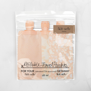 kitsch refillable travel pouches