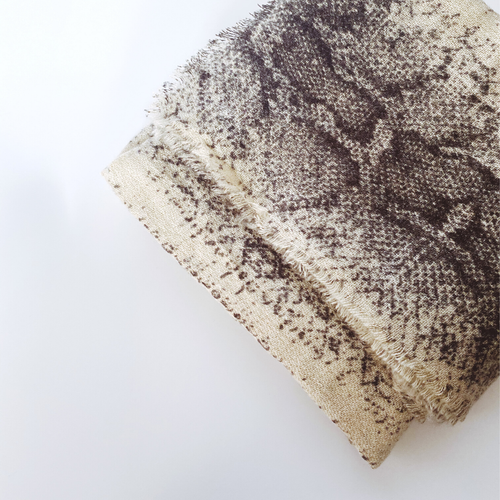 cuco cashmere snakeskin scarf