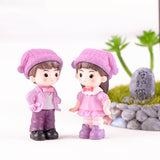 Statue Figurine Couple<br>Mignon Petit Couple Style Manga Cartoon