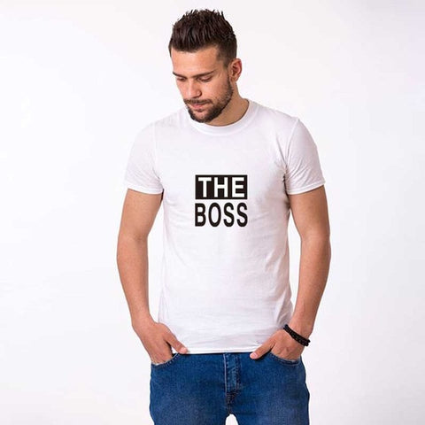 TShirt Couple<br> The Boss (Mec) / The Real Boss (Fille)