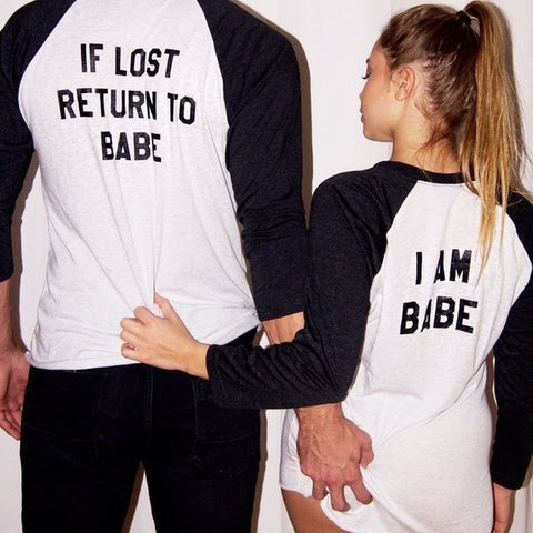 TShirt Couple<br> I Am Babe / If Lost Return To Babe