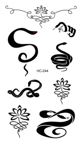Tatouage Couple<br> Serpents abstraits