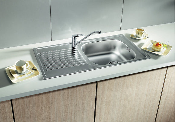 KITCHEN SINK SINGLE BOWL WITH DRAIN BOARD