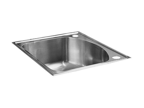 CULINAIRE 25-INCH SELF-RIMMING SINGLE BOWL KITCHEN SINK, STAINLESS STEEL