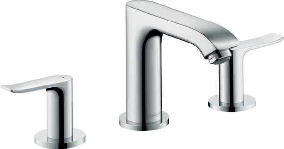 METRIS100 3-HOLE BASIN MIXER 100 WITH POP-UP WASTE SET