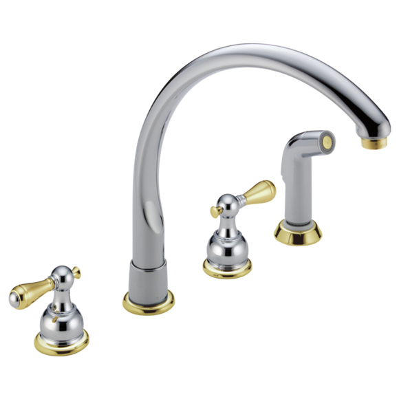 WATERFALL- TWO HANDLE WATERFALL KITCHEN FAUCET WITH SPRAY - LESS HANDLES