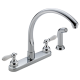WATERFALL TWO HANDLE WATERFALL KITCHEN FAUCET WITH SPRAY