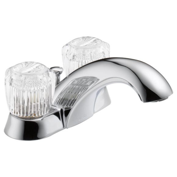 CLASSIC TWO CRYSTAL HANDLE LAVATORY FAUCET