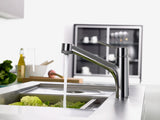 TALIS SINGLE LEVER KITCHEN MIXER 170, PULL-OUT SPRAY, 2JET