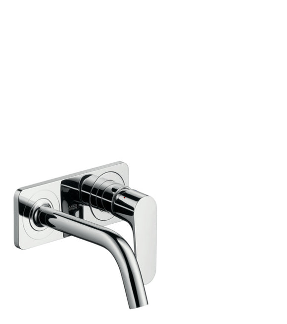 AXOR CITTERIO M SINGLE LEVER BASIN MIXER FOR CONCEALED INSTALLATION WALL-MOUNTED WITH SPOUT 167 MM AND PLATE