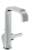 AXOR CITERIO SINGLE LEVER BASIN MIXER 190 WITH PIN HANDLE AND POP-UP WASTE SET