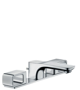AXOR URQUIOLA 3-HOLE BASIN MIXER 50 WITH PLATE AND POP-UP WASTE SET