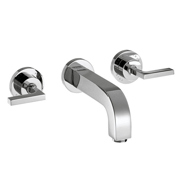AXOR CITTERIO - 3-HOLE BASIN MIXER FOR CONCEALED INSTALLATION WALL-MOUNTED WITH SPOUT 222 MM,