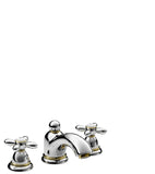AXOR CARLTON- 3-HOLE BASIN MIXER 50 WITH POP-UP WASTE SET AND CROSS HANDLES
