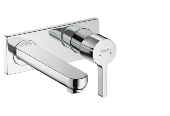 METRIS S- SINGLE LEVER BASIN MIXER FOR CONCEALED INSTALLATION WALL-MOUNTED WITH SPOUT 16.5 CM